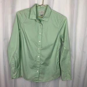 J. Crew Stretch Perfect Shirt XS Mint Green, used for sale
